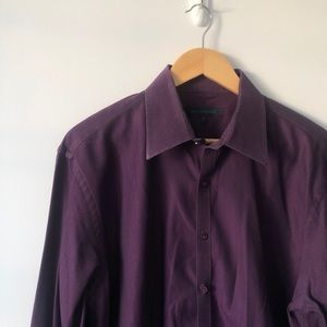 Bellissimo Purple Long Sleeve Button Down Shirt